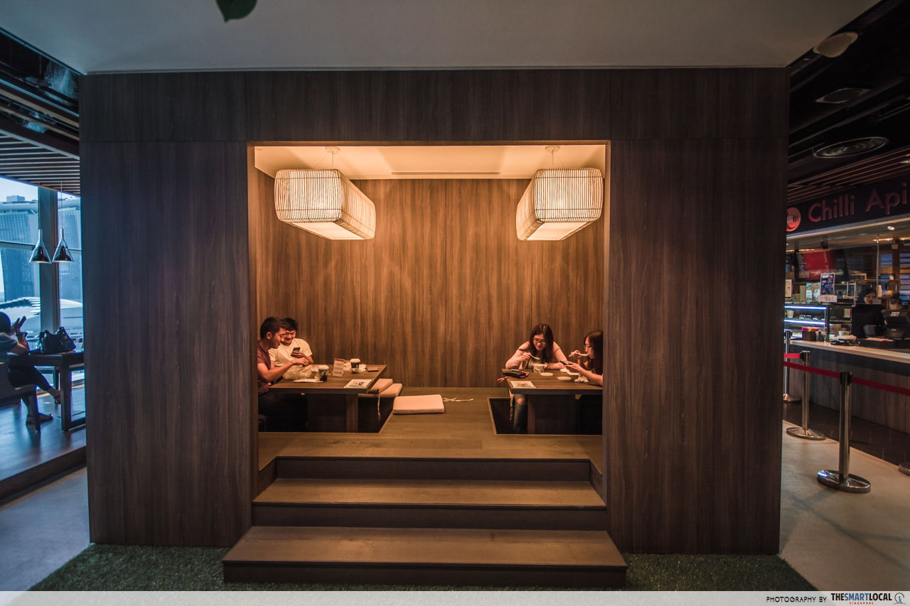 Chill out at this Japanese-inspired hut in DBS MBFC office
