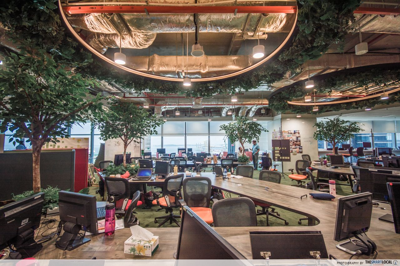 Green work spaces in DBS MBFC office