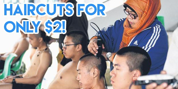 haircuts for only $2