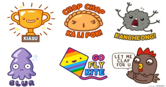 Singaporean Telegram sticker packs