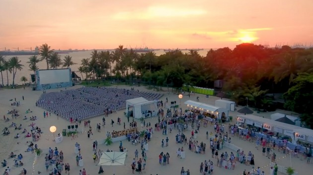 unconventional cinema alternatives Sunset Cinema at Tanjong Beach