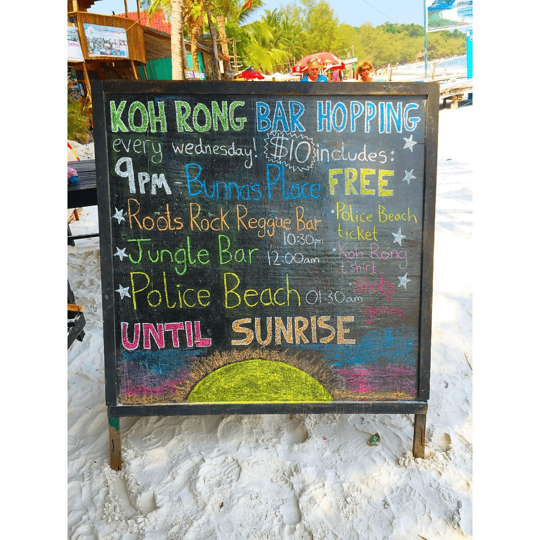 koh rong nightlife party schedule