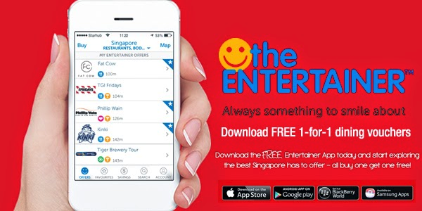 the entertainer app singapore promotions 1-for-1