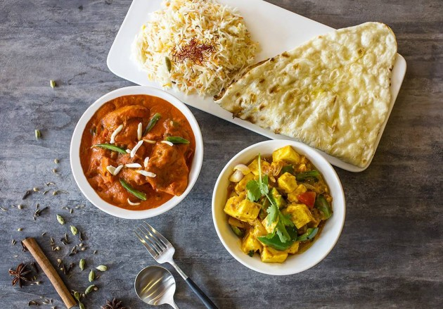 dip your flatbread in different curries