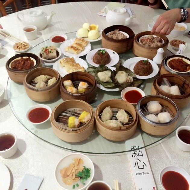 enjoy the spread of dim sum at yum cha