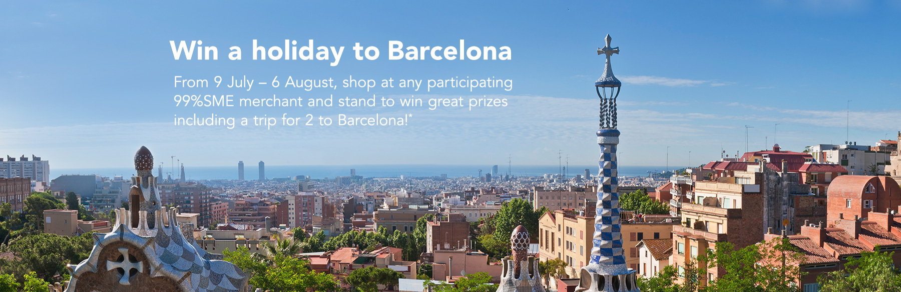 Win a holiday to Barcelona with 99%SME