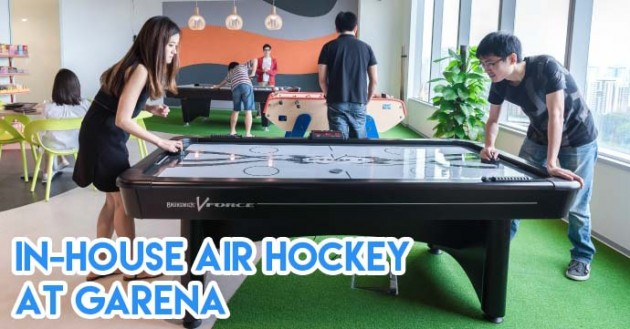 play air-hockey at work