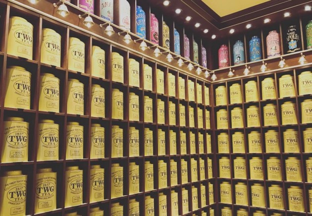 an array of tea from all over the world