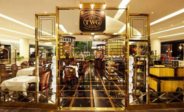 TWG tea's gatsby-esque design