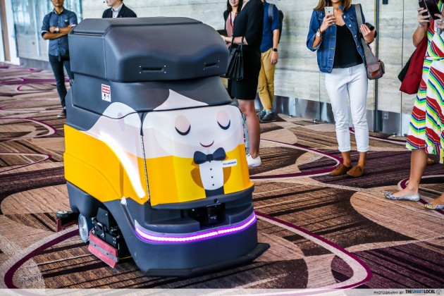 Changi Airport Terminal 4 automated floor cleaner robot