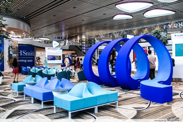 Changi Airport Terminal 4 quirky plush seats