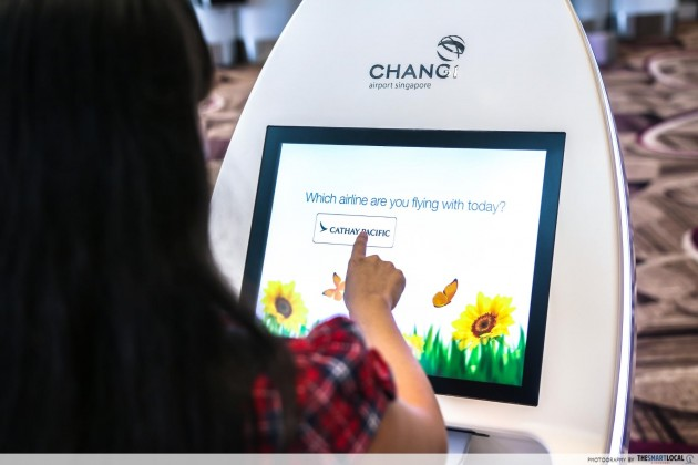Changi Airport Terminal 4 automated check-in