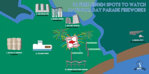 10 Unusual Places To Catch The NDP Fireworks For Free Out Of The CBD