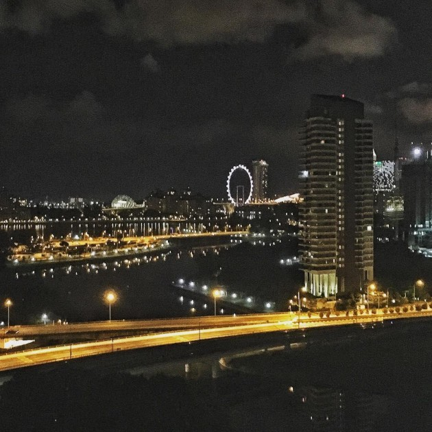 Kallang Trivista night view