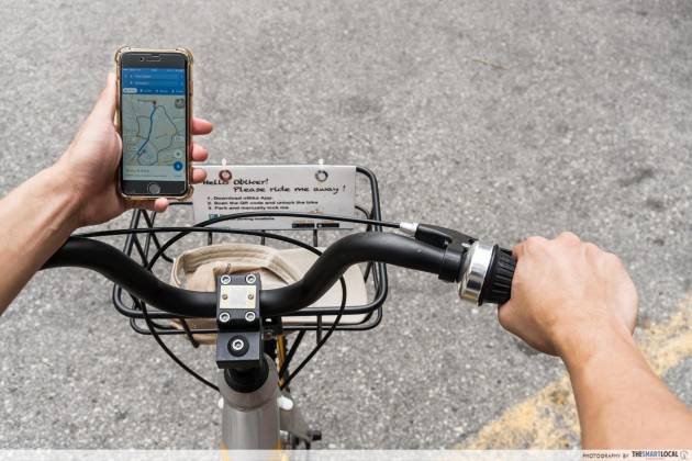 obike tips bike sharing handphone holder google maps