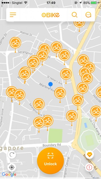 obike tips bike sharing location