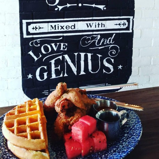 Chicken N' Waffles N' watermelon