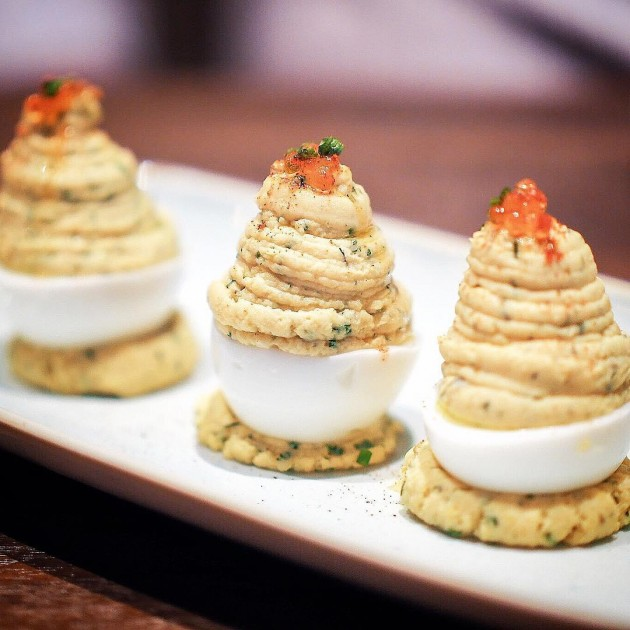 The bird southern table deviled eggs