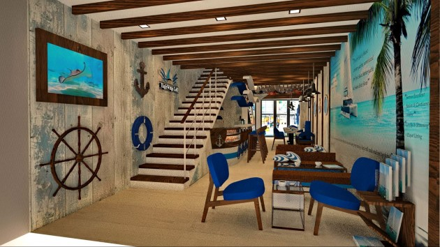 Nautical themed cafe