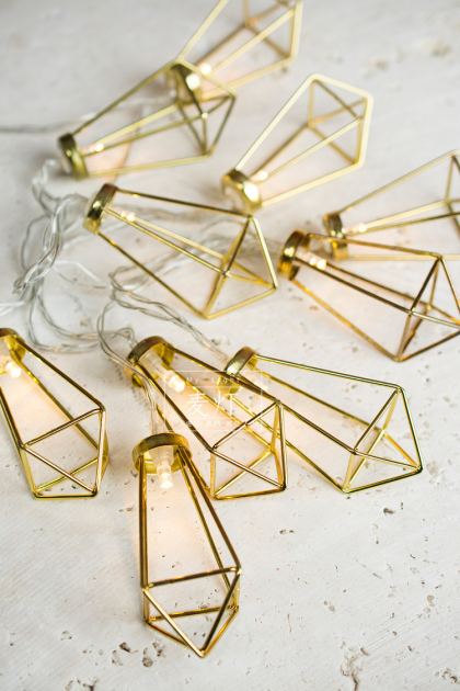 gold fairy caged lightbulbs