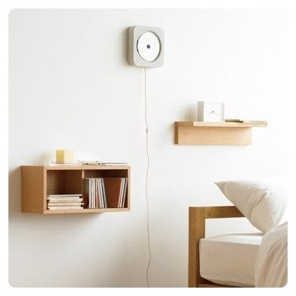 wooden box wall shelves japanese minimalist