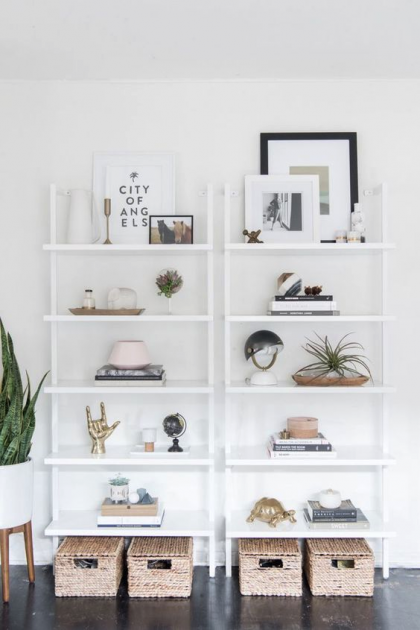 white shelves minimalist taobao