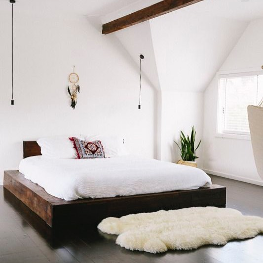 white shaggy rug bedroom taobao