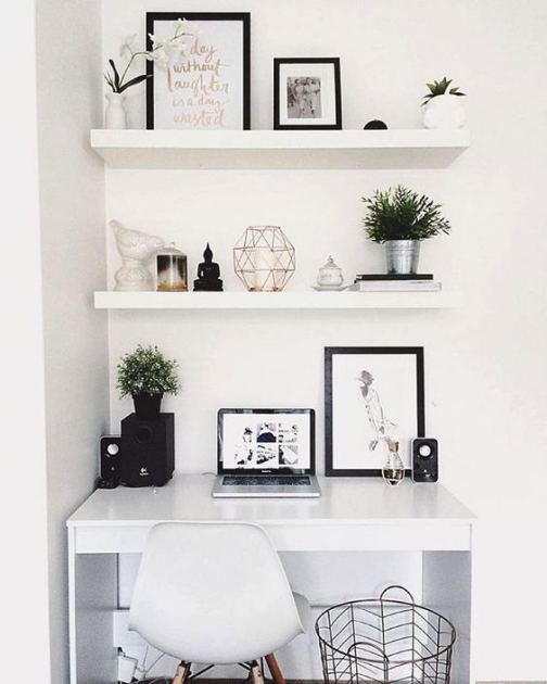 taobao white study desk pinterest