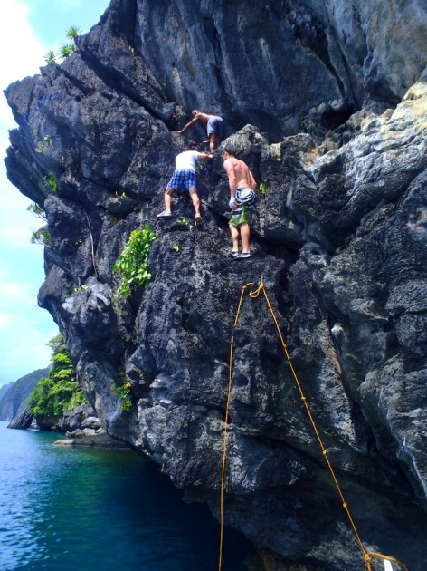 go cliff-hopping around el nido