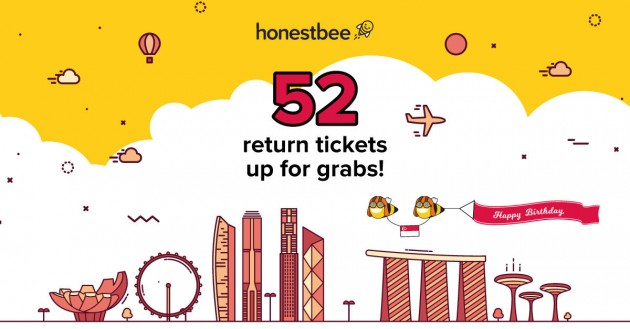 honestbee SG52 return flight tickets giveaway