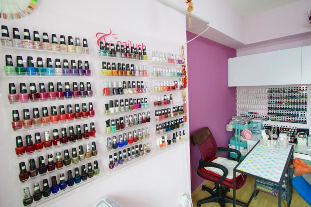 nailush spa singapore punggol cheap gelish