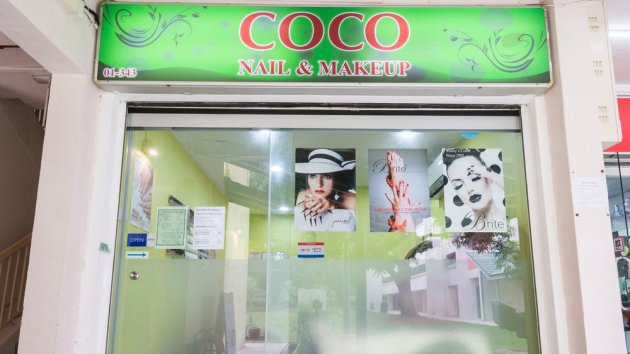 coco nail and makeup singapore cheap gelish manicure