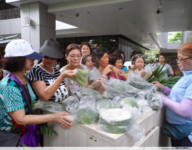 Khoo Teck Puat Hospital rooftop herb garden vegetable sale