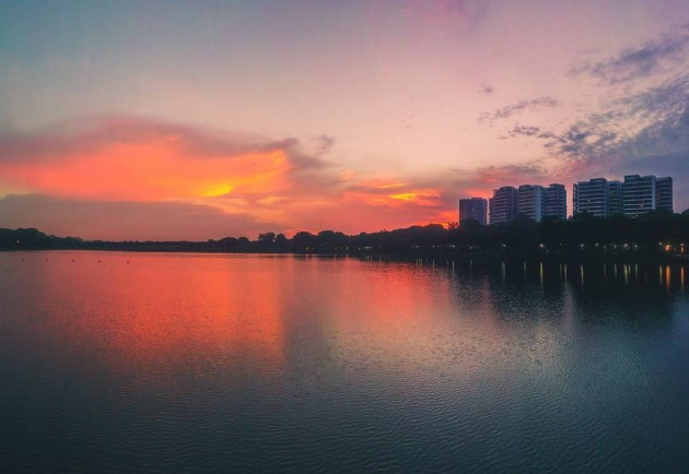 Sunset Lower Seletar Reservoir Yishun