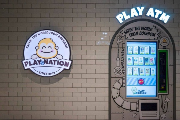 Play Nation games and toys vending machine