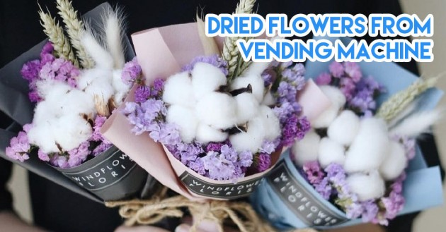 Dried flower bouquet vending machine