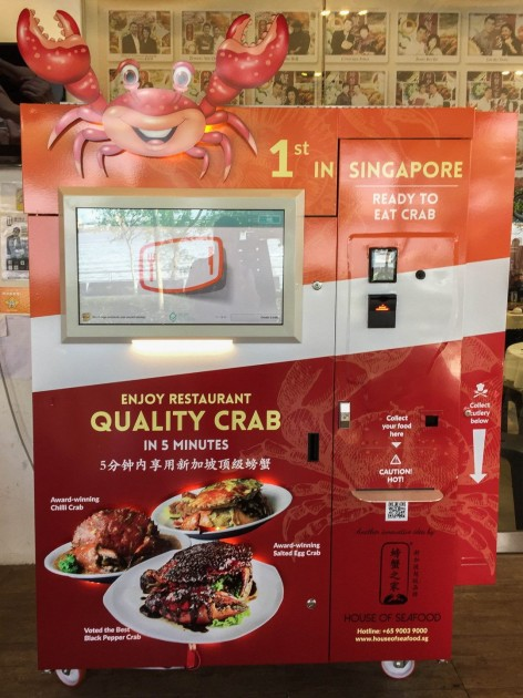 Chilli crab vending machine
