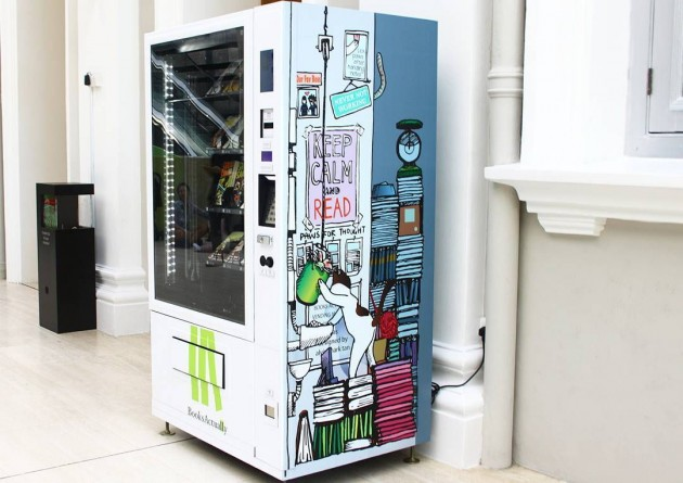 Book vending machine Singapore