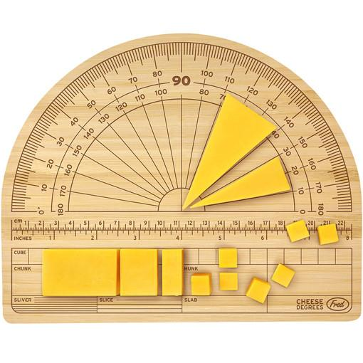 Cheese protractor tool to measure cheese when cutting weird inventions singapore