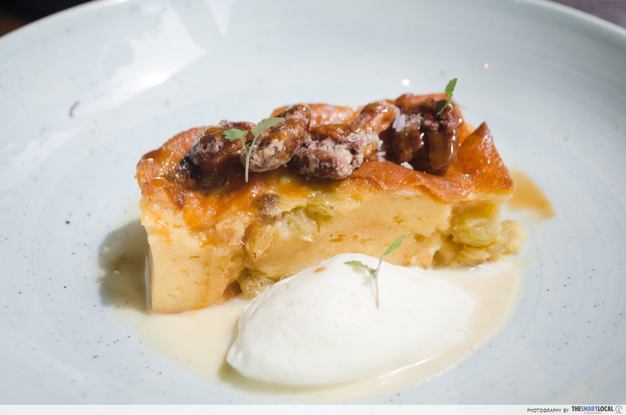 mbs the bird salted caramel bread pudding