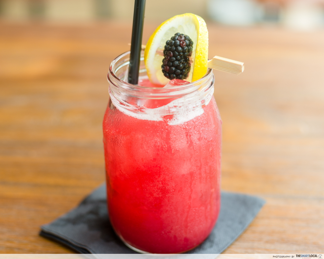 mbs the bird blackberry bourbon lemonade
