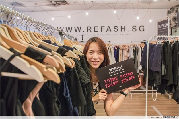 Refash buy and sell pre-loved clothes singapore