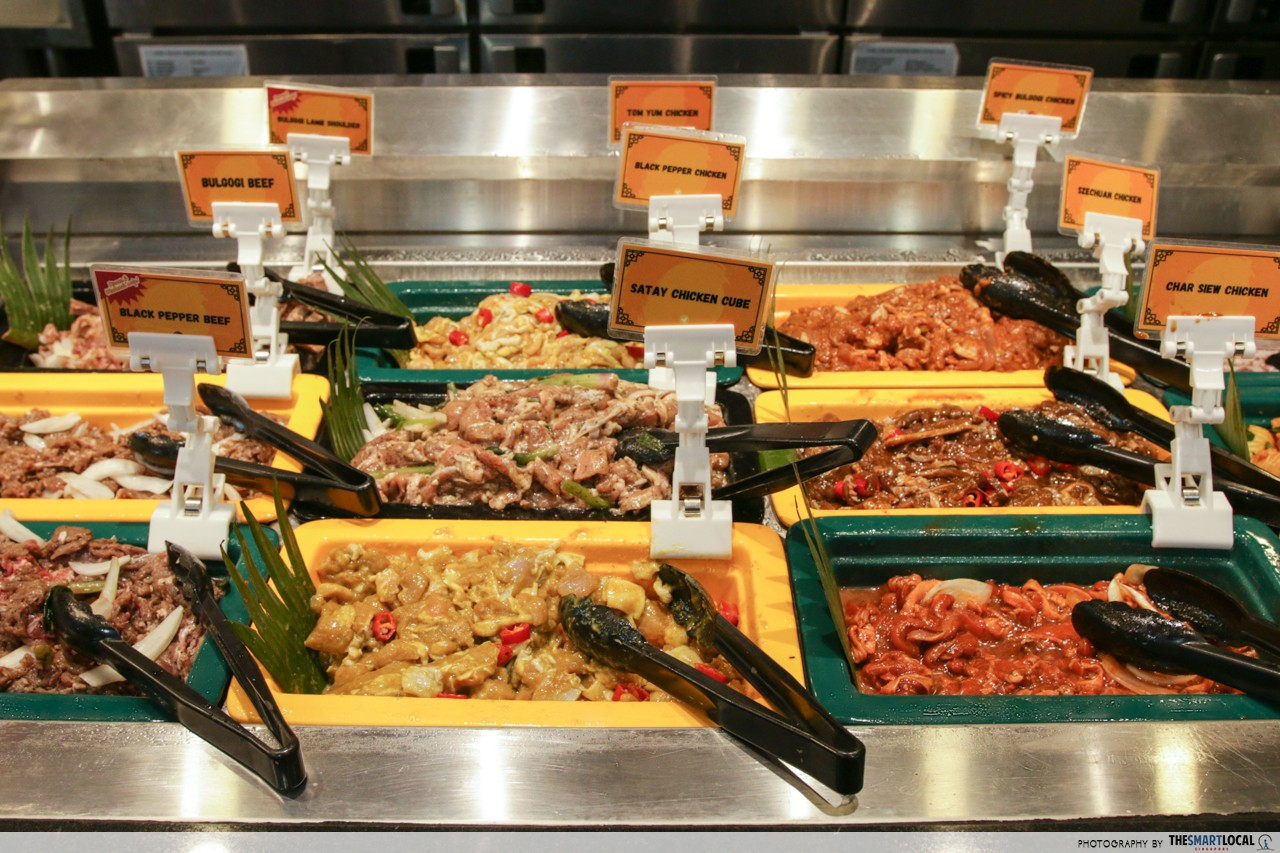 seoul garden's marinated meats