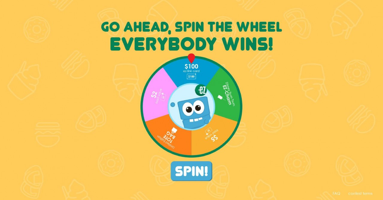 EZ-Link Spin the Wheel Contest OH SO CUTE!