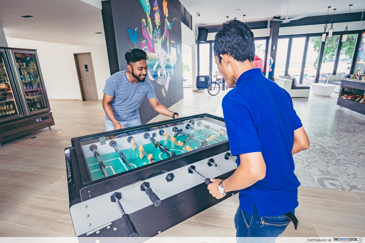 Cassia Bintan Lobby Meeting Point Foosball with Cassia Friend