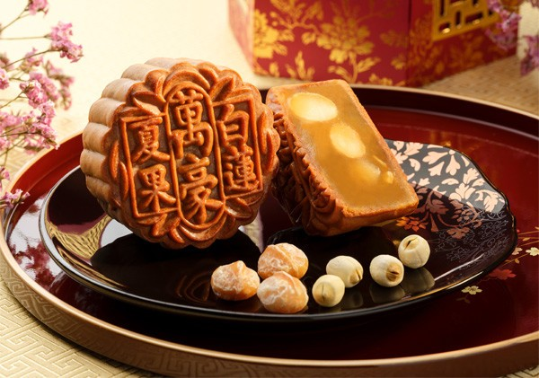 unique mooncake flavours coconut paste with hazelnut