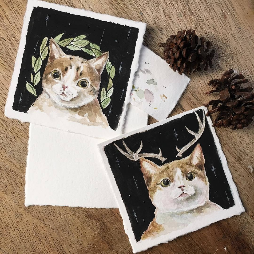 Lovage cat cards