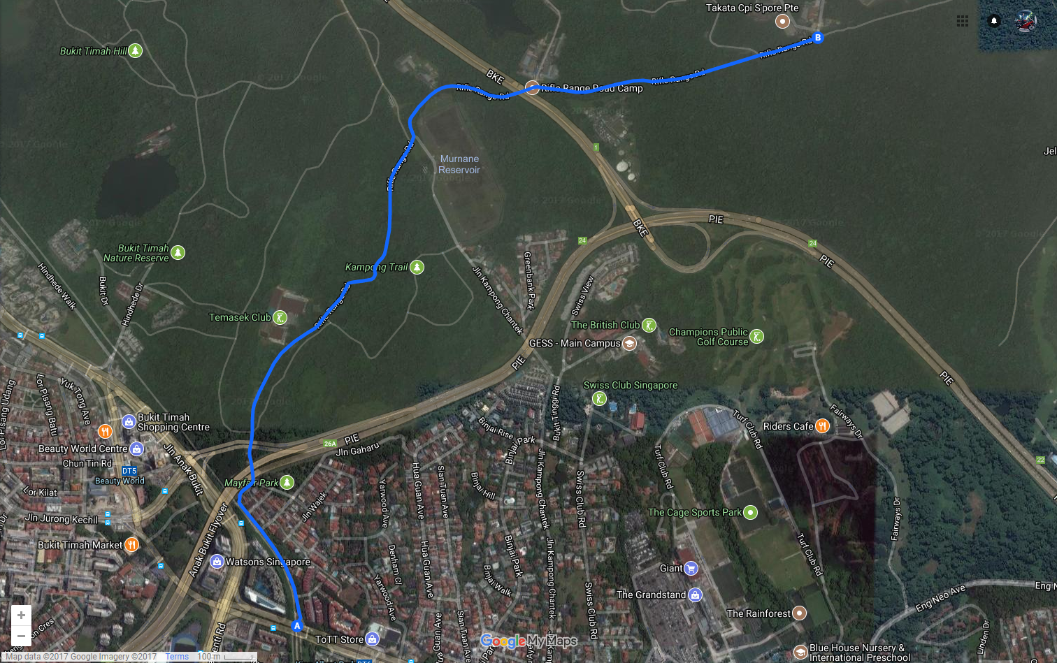 5 Ulu Initial D-Worthy Roads In Singapore Every Newbie And Laojiao Driver Should Conquer (3) - Rifle Range Road map