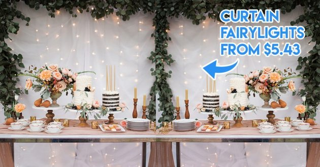 Cheap party decorations from ezbuy curtain fairylights