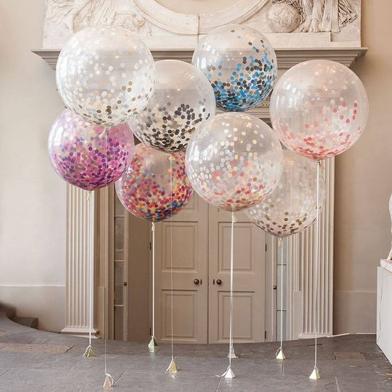 Cheap Dessert Table Party Decoration Ezbuy Clear Confetti Balloons